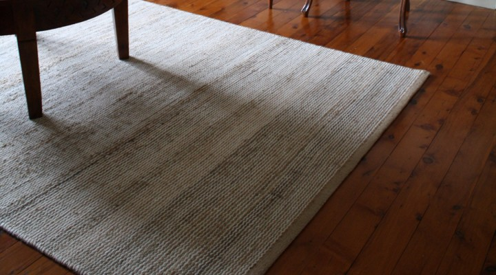 Woven Rug made of Wool and Hemp