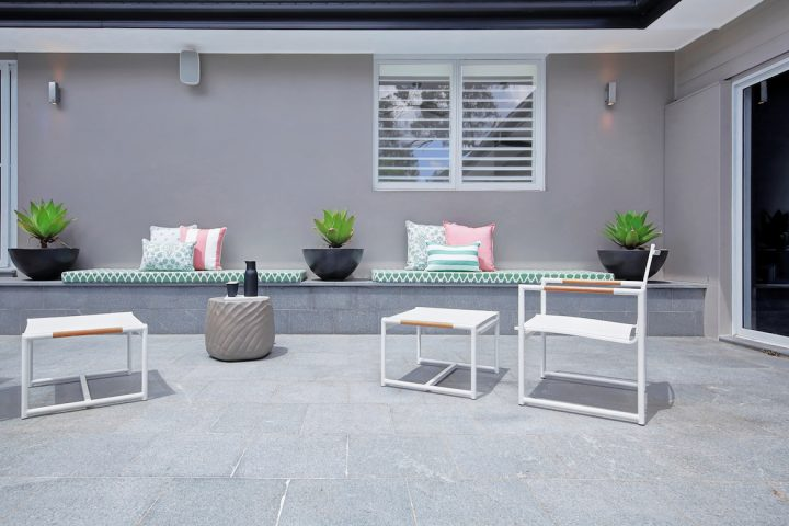 custom seats for an outdoor courtyard