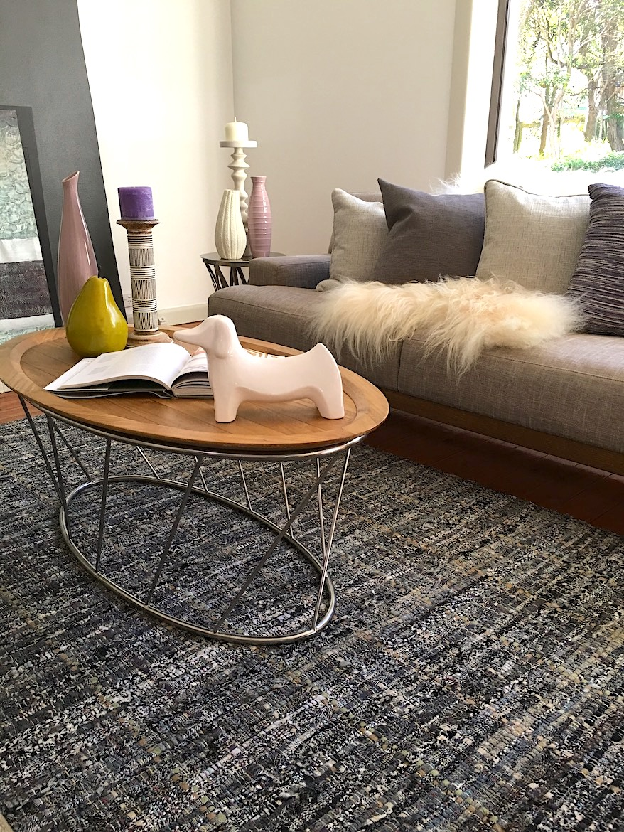Coffee table with accessories