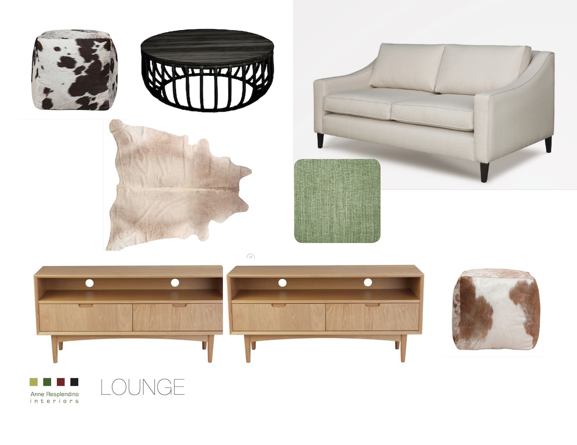 concept board for a living room