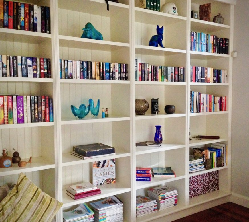 Organised and styled bookshelf