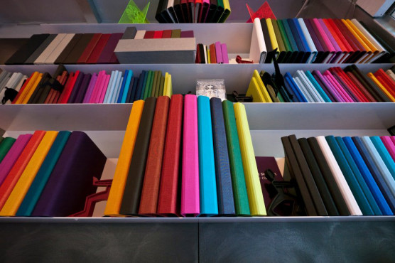 Colourful Bookshelves