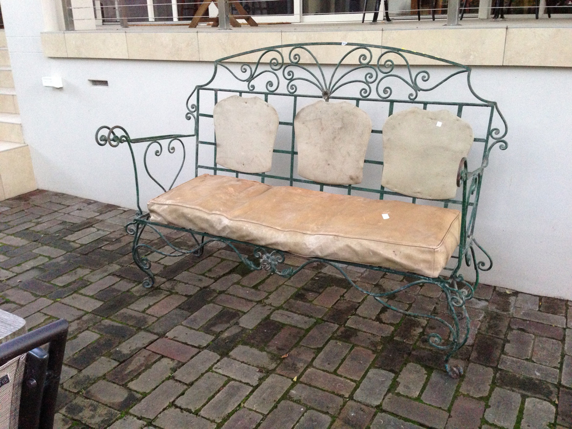 Steel Lounge Bench