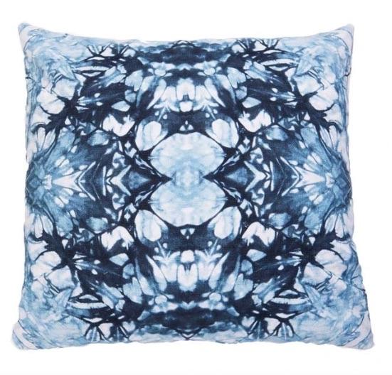 Quartz Cushion Indigo from Shibori Studio