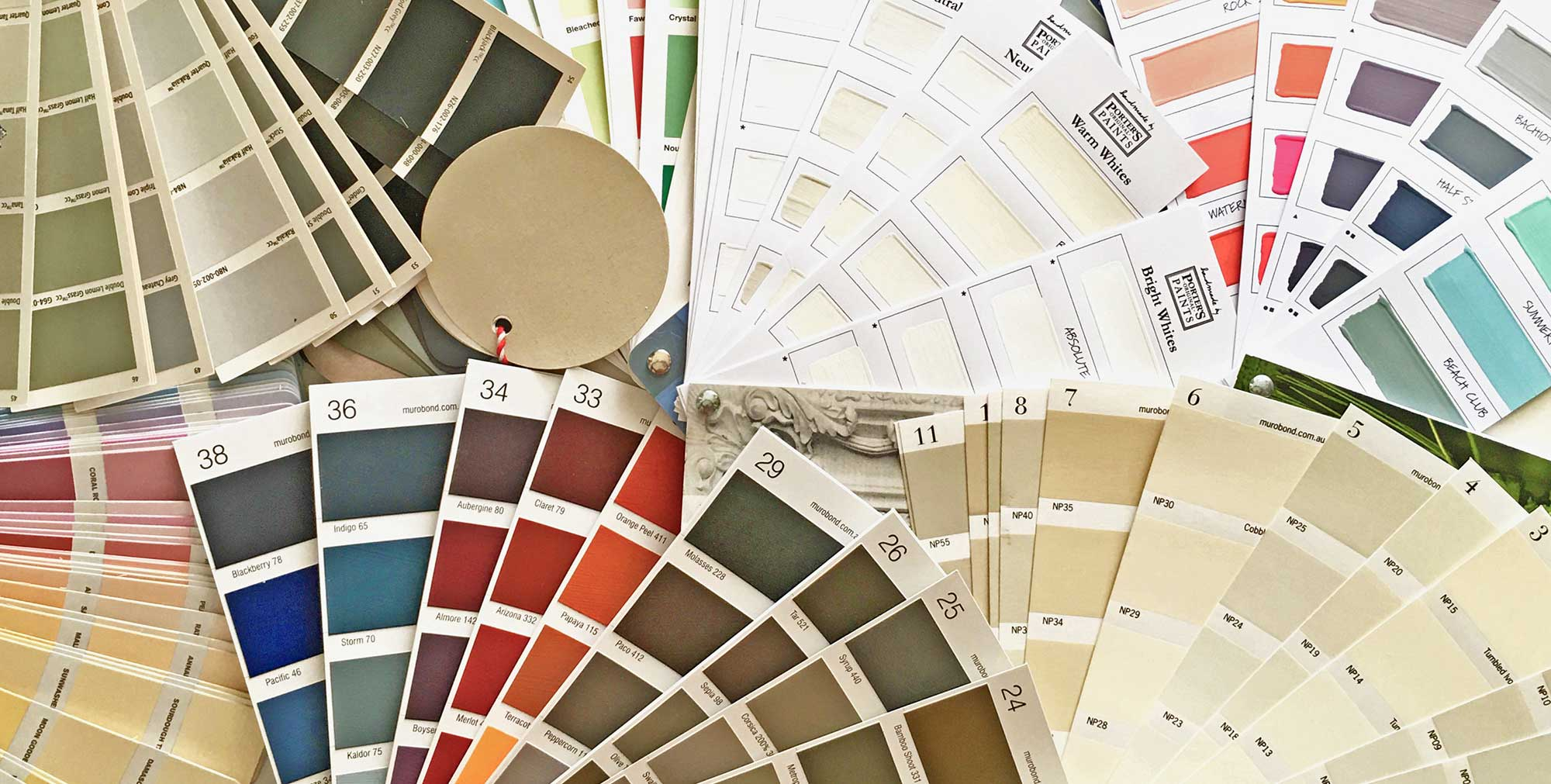 Colour Swatches Interior & Exterior