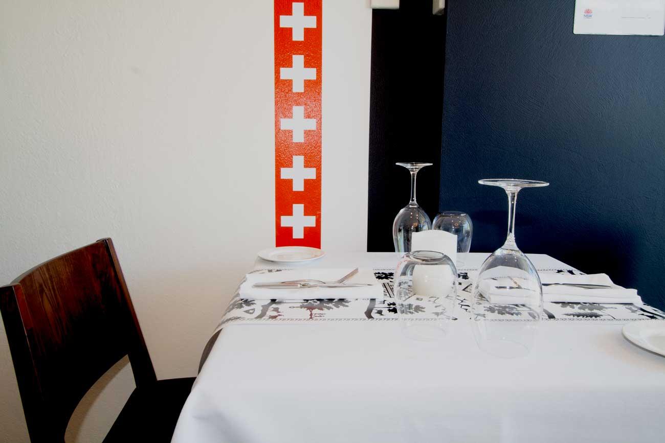 Dining Table setting Restaurant