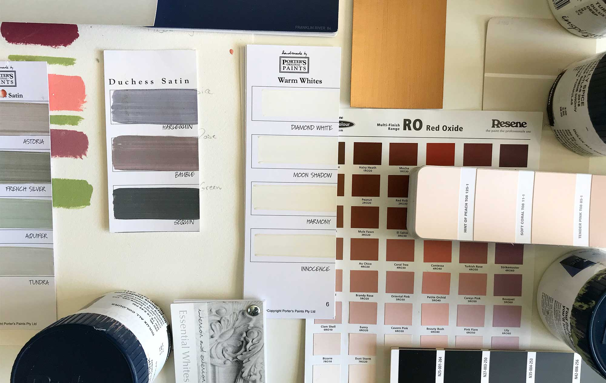 Colour Swatches Interior & Exterior