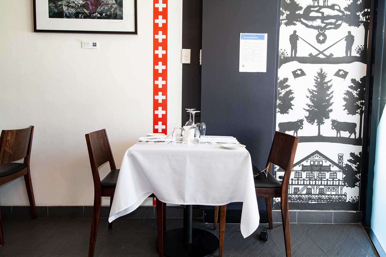 Table for two entry of the restaurant