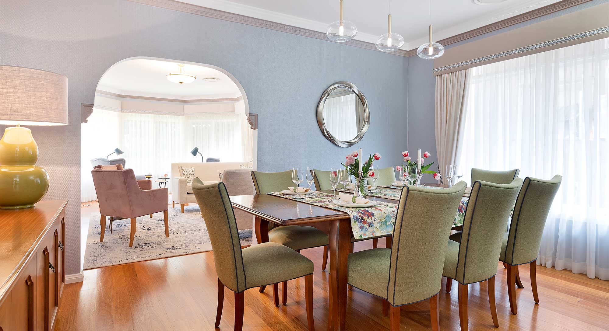 Dining Room set for Entertaining